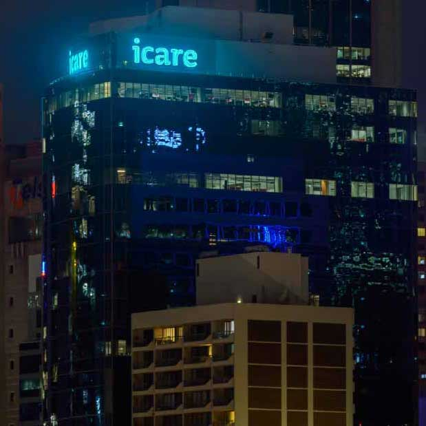 icare neon sign