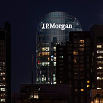J P Morgan Neon Sign