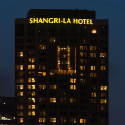 shangri-la neon sign